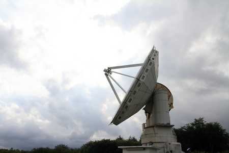 Millimeter array of Nobeyama radio observatory in Japan Stock Photo