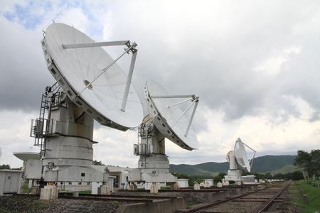 observatory: Millimeter array of Nobeyama radio observatory in Japan Stock Photo