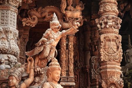 Sanctuary of Truth (Prasat Satchatham) in Pattaya, Thailand Stock Photo