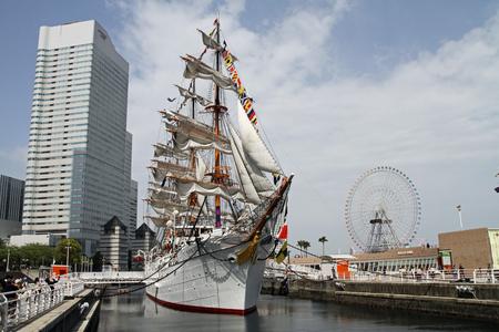 Nippon maru, sailing ship in yokohama, Japan