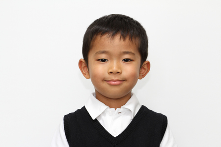 5 years old: Japanese boy in the formal wear (5 years old) Stock Photo