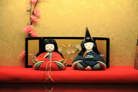 Hina doll (Japanese traditional doll) to celebrate girls growth