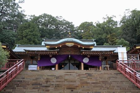 prayer hall of Suwa shrine in Nagasaki, Japan