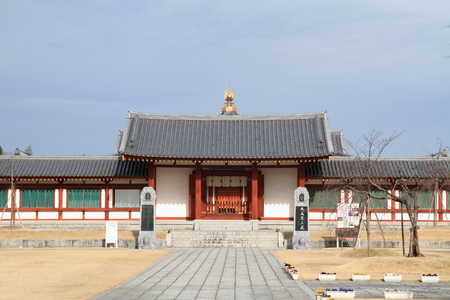 玄奘三蔵院の薬師寺、奈良 報道画像