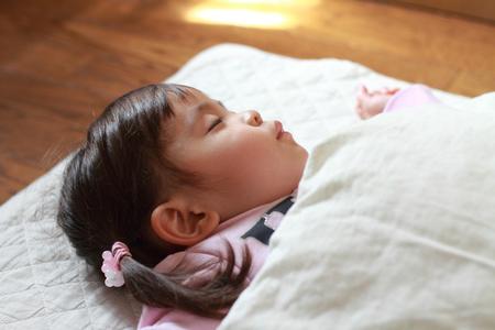 sleeping Japanese girl (2 years old)