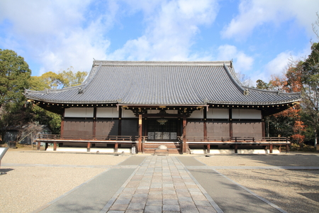 ninnaji: main hall of Ninna ji in Kyoto, Japan Editorial