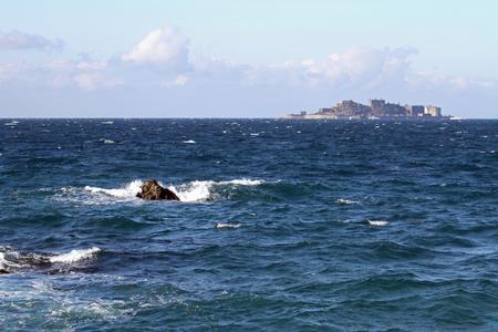 나가사키, 일본의 Gunkan jima (전함 섬)
