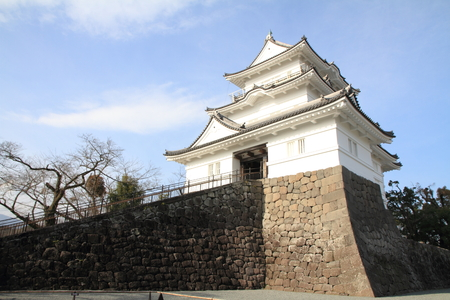 castle tower of Odawara castle in Kanagawa, Japan Stock Photo