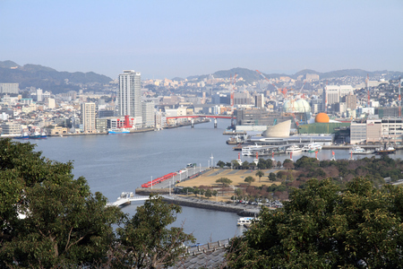 Nagasaki bay in Nagasaki, Japan