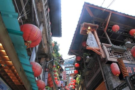 九フン、台湾台北市の町並み 写真素材
