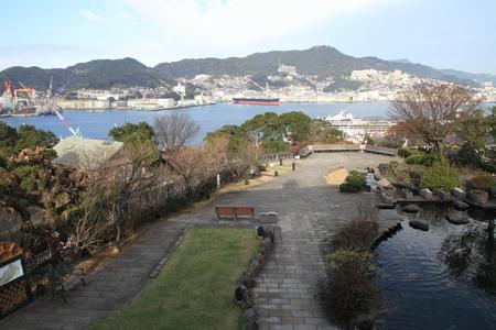 nagasaki: Nagasaki bay in Nagasaki, Japan