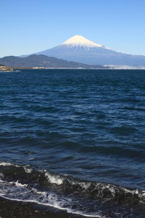 sacred source: Mt. Fuji and sea, view from Mihono Matsubara in Shizuoka, Japan