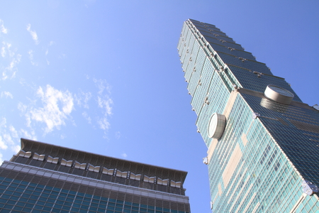 Taipei 101, high rise building in Taipei, Taiwan