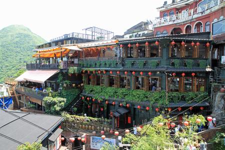 townscape of Jiufen, Taipei, Taiwan Editorial
