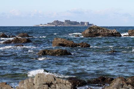 shipbuilding: Gunkan jima (battleship island) in Nagasaki, Japan