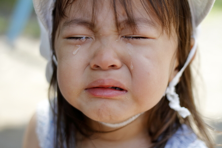 crying Japanese girl (2 years old)