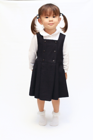 Japanese girl in formal wear (2 years old) Stock Photo
