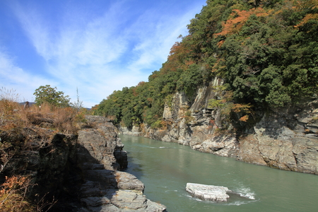 Chichibu red cliff in Nagatoro, Saitama, Japan