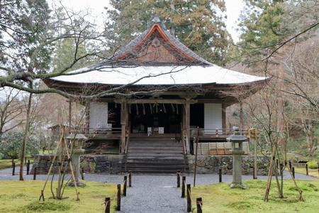 Amida hall of Sanzenin in Kyoto, Japan Stock Photo