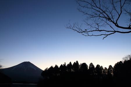 Mt. Fuji, view from Tanuki lake, Shizuoka, Japan (before dawn)