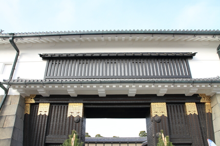 Higashiote gate of Nijo castle in Kyoto, Japan Editorial