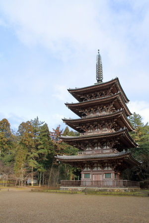 five story pagoda of Daigo temple in Kyoto, Japan 報道画像