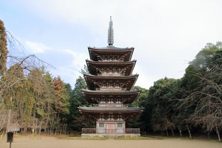 five story pagoda of Daigo temple in Kyoto, Japan Editorial