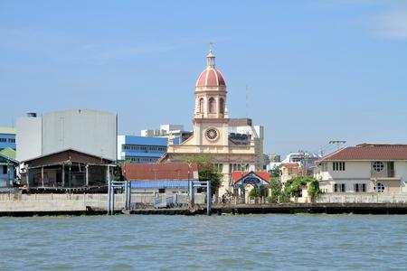 Santa cruz church and Chao phraya river in Bangkok, Thailand 写真素材