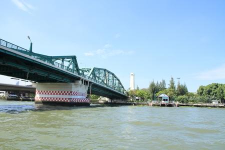 Chao Phraya river and Memorial bridge in Bangkok, Thailand