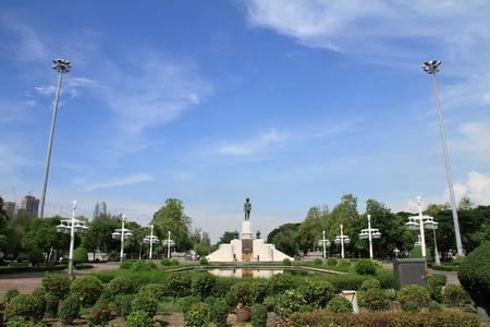 King Rama VI monument in Lunpini park, Bangkok, Thailand