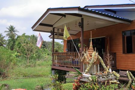 Thai style house in Koh Koret, Thailand