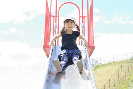 Japanese girl on the slide