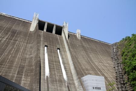 discharge from Miyagase dam in Tanzawa, Kanagawa, Japan