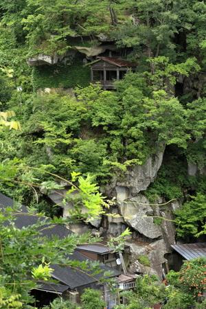 Syugyo no iwaba of Risshaku ji (Yamadera) in Yamagata, Japan 報道画像