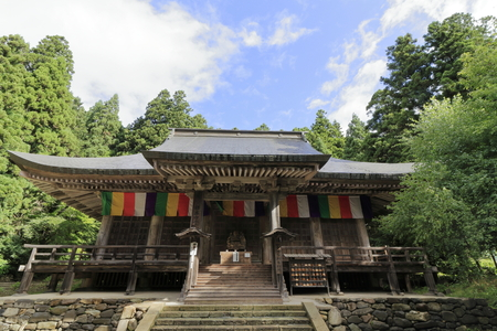 main hall of Risshaku ji (Yamadera) in Yamagata, Japan