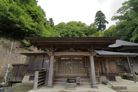 Okunoin hall of Risshaku ji (Yamadera) in Yamagata, Japan