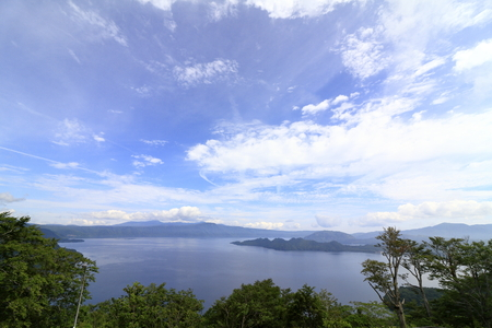 Todawa lake, view from Hakka pass in Aomori, Japan Stock Photo