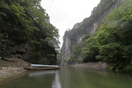 Geibi gorge and brake shoe in Ichinoseki, Iwate, Japan