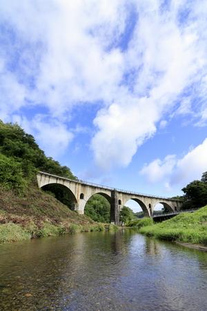 Miyamori bridge in Tono, Iwate, Japan 写真素材