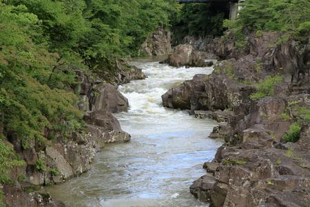 Genbi gorge in Ichinoseki, Iwate, Japan