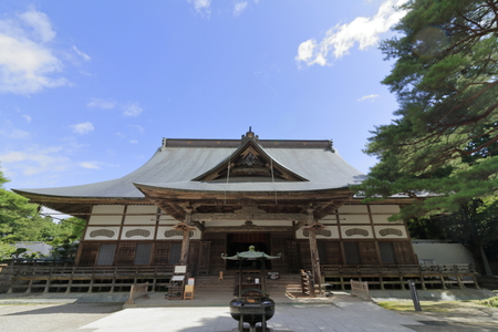 main hall of Chuson temple, Hiraizumi, Iwate, Japan