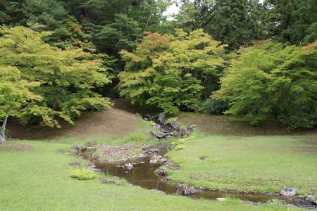 feeder stream of Motsu temple in Hiraizumi, Iwate, Japan 写真素材