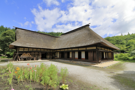 L shaped Japanese house in Tono, Iwate, Japan