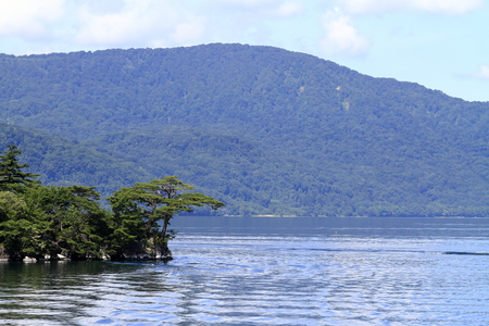 Todawa lake in Aomori, Japan (Nakayama peninsula) 写真素材