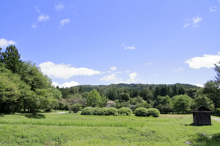 rural scene in Tono, northern Japan (summer) 写真素材