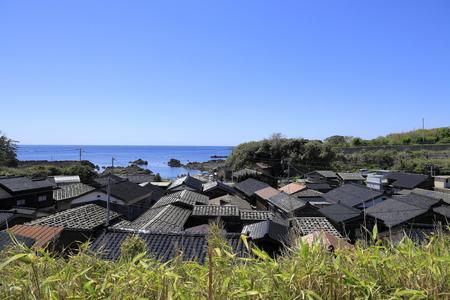 landscape of Shukunegi, Sado, Niigata, Japan