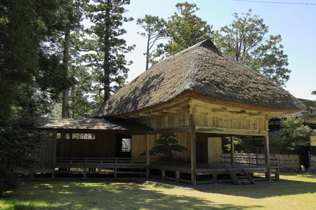 Noh stage of Daizen shrine in Sado, Niigata, Japan Stock Photo - 124912102