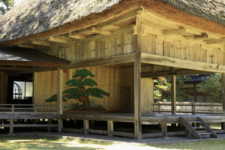 Noh stage of Daizen shrine in Sado, Niigata, Japan Stock Photo - 124912114