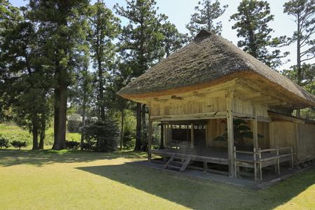 Noh stage of Daizen shrine in Sado, Niigata, Japan Editorial