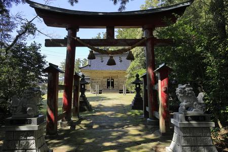 prayer hall of Daizen shrine in Sado, Niigata, Japan Banco de Imagens - 124913452